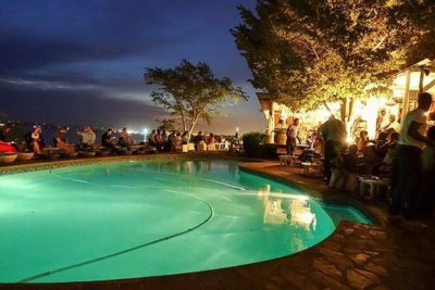 dhow cafe mozmbique at night - Mozambique Accommodation - Guinjane Lodge